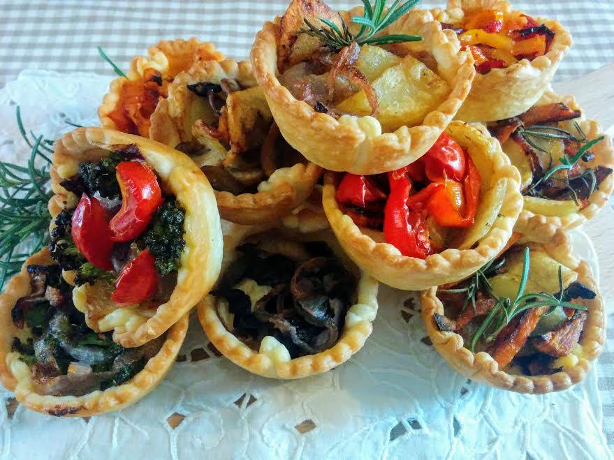 Cestini di pasta brisèe con le verdure
