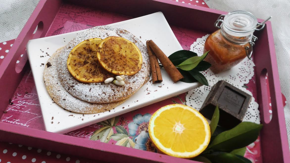 Pancakes arance cannella & cioccolato