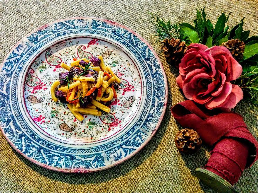 Caserecce con cavolfiore viola & zucca