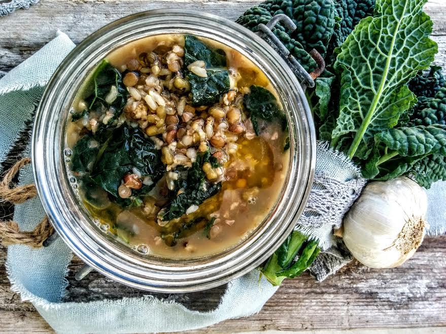 Zuppa di cereali antichi & cavolo nero