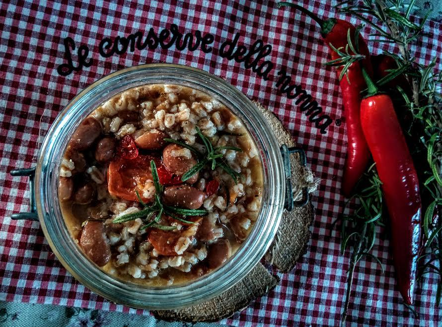 Zuppa di farro & fagioli borlotti