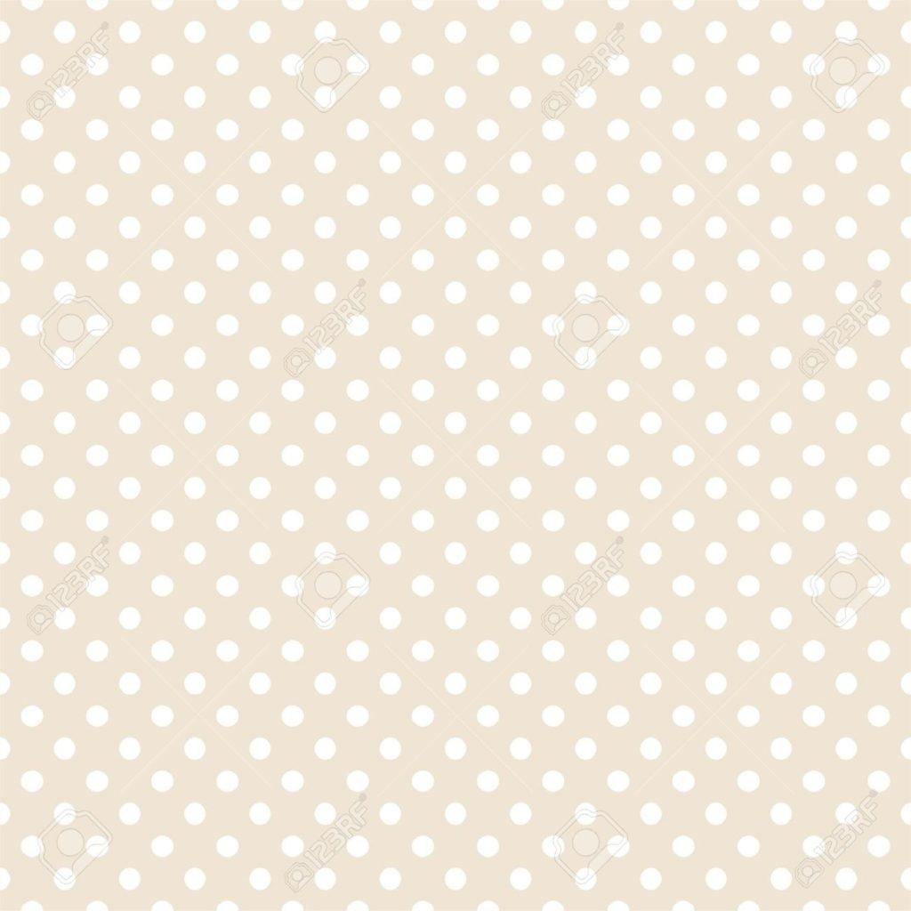 14653055-Pois-bianchi-su-beige-chiaro-neutrale-fondo-retro-seamless-per-gli-sfondi-i-blog-www-album-inviti-do-Archivio-Fotografico