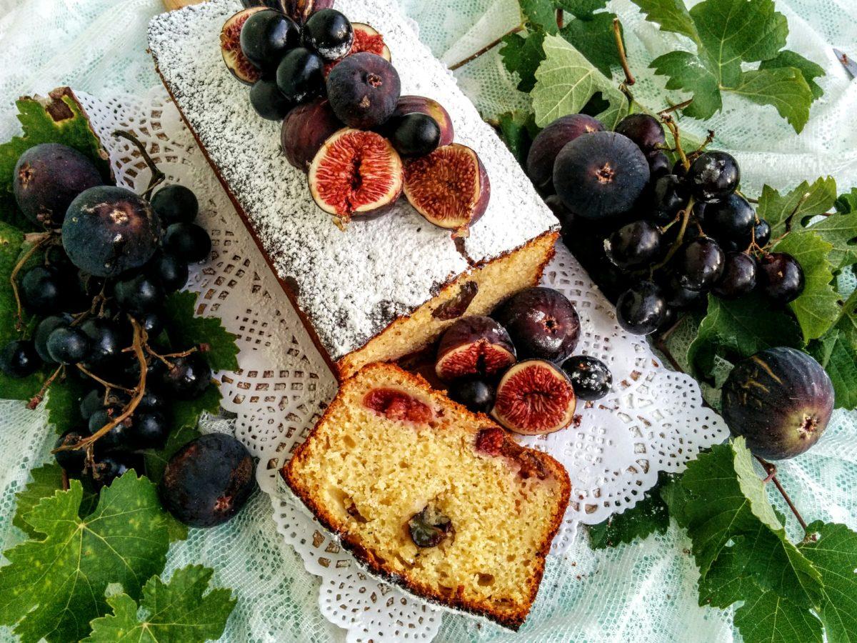 Banana Bread con uva & fichi