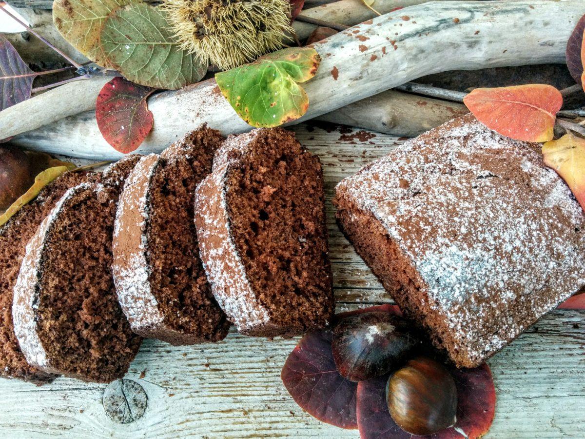 Plumcake al cioccolato con farina di castagne