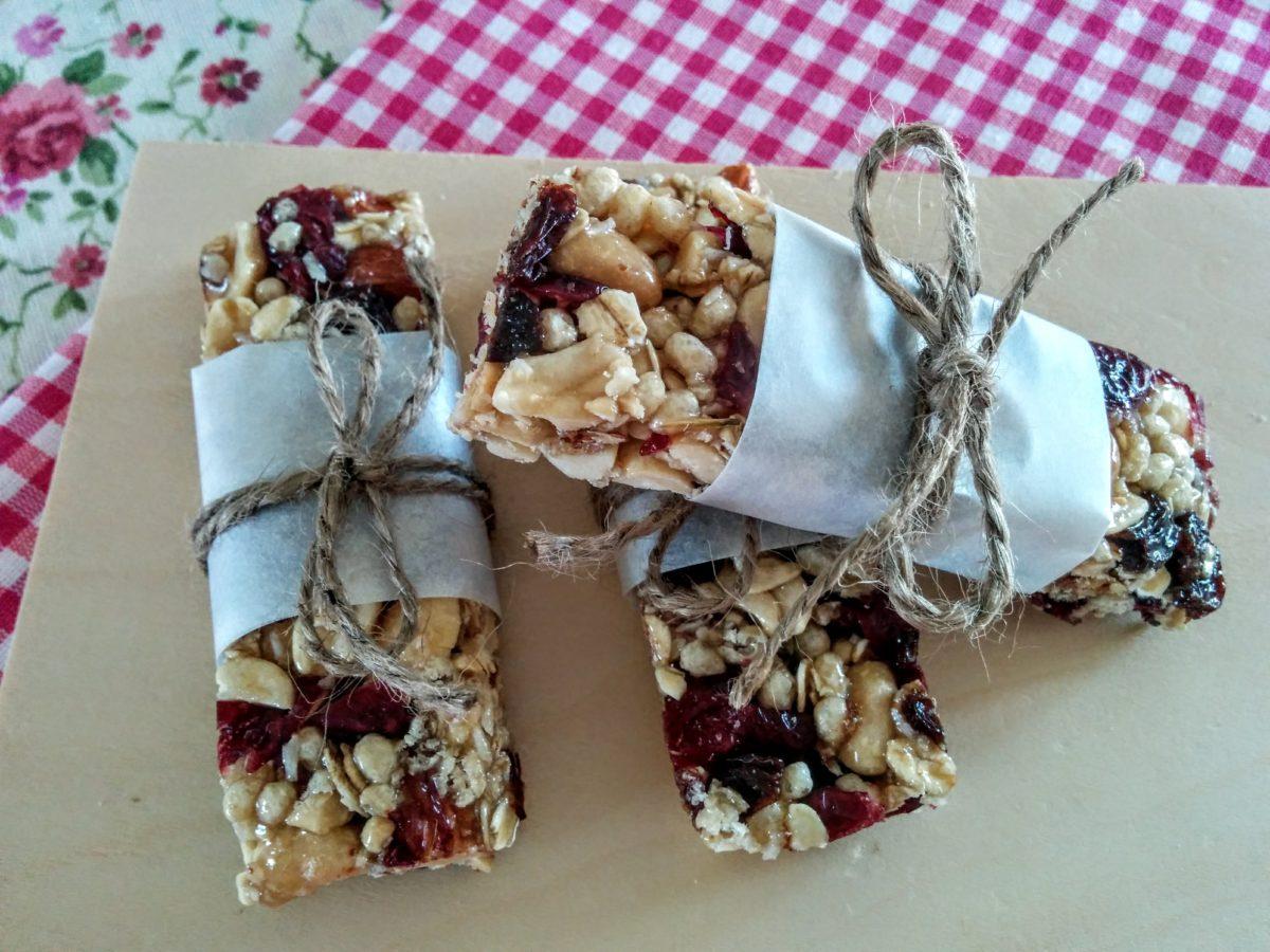 Barrette di frutta secca & cereali homemade