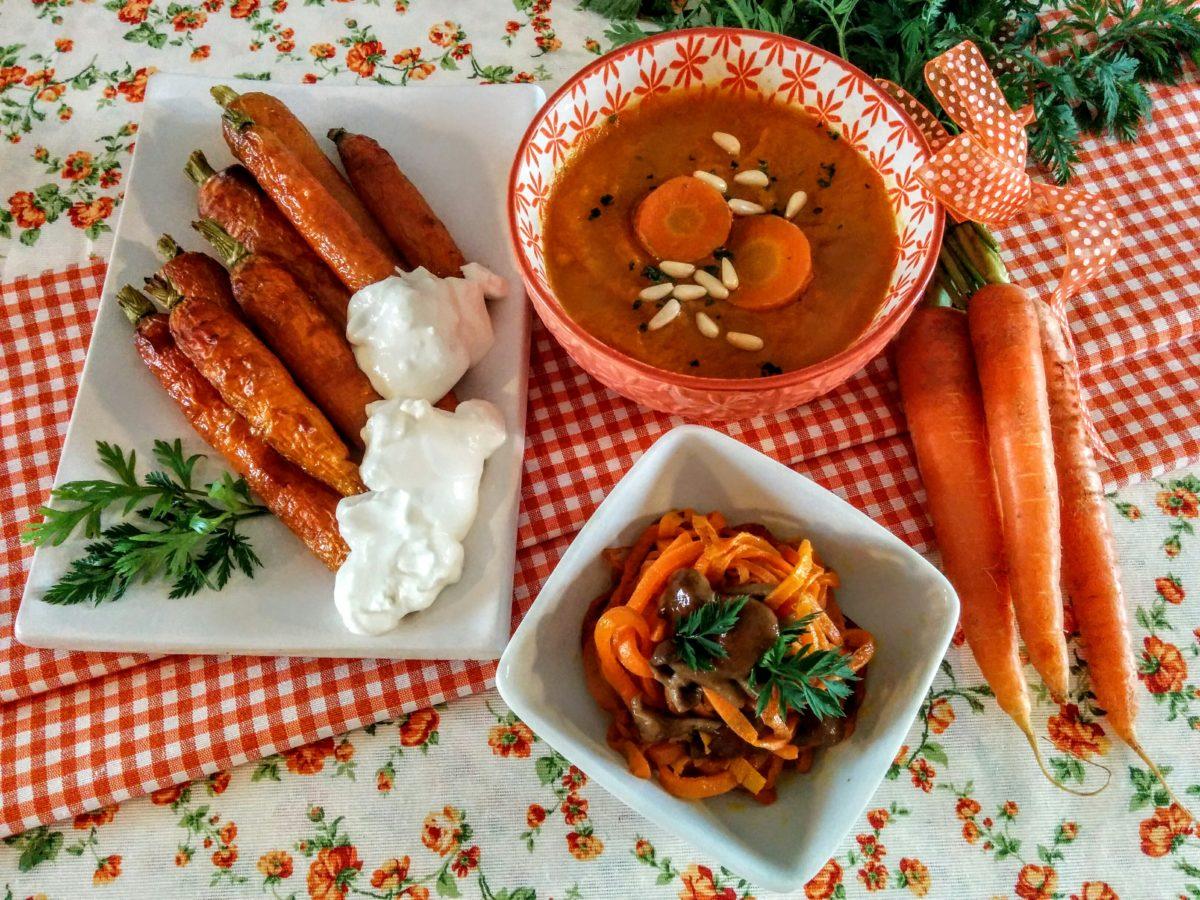 3 idee con le carote