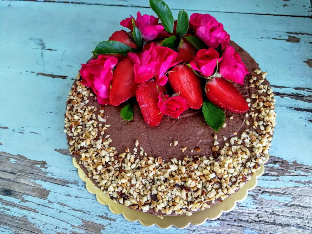 Cheesecake al cioccolato fondente