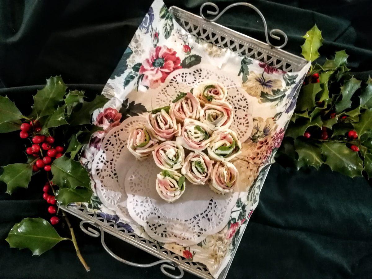 Albero di Natale di piadina squacquerone & rucola