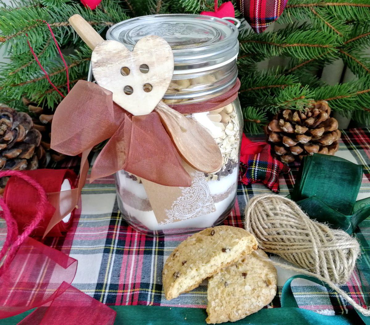 Preparato per Cookies ai fiocchi d' avena, cioccolato & arachidi