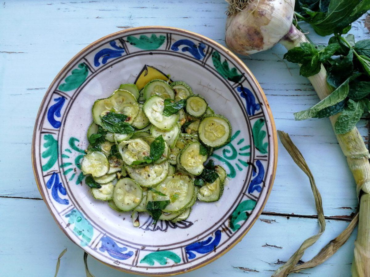 Zucchine alla scapece…in versione light